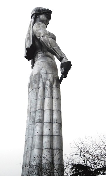 "The statue of Kartlis Deda (""Mother of Georgia"")"
