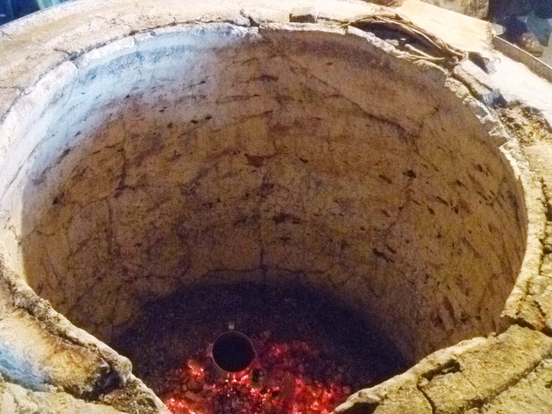 The traditional clay oven called a tone