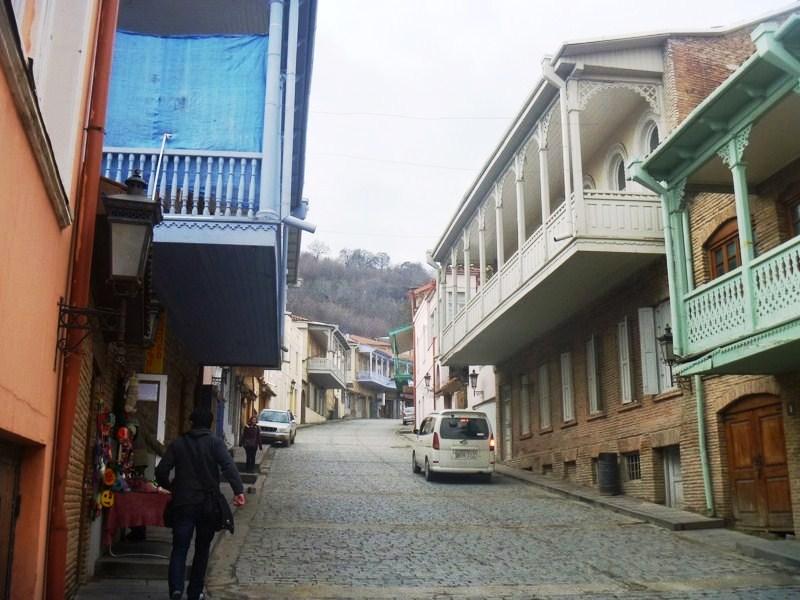 Uniquely designed terrace architecture of the town