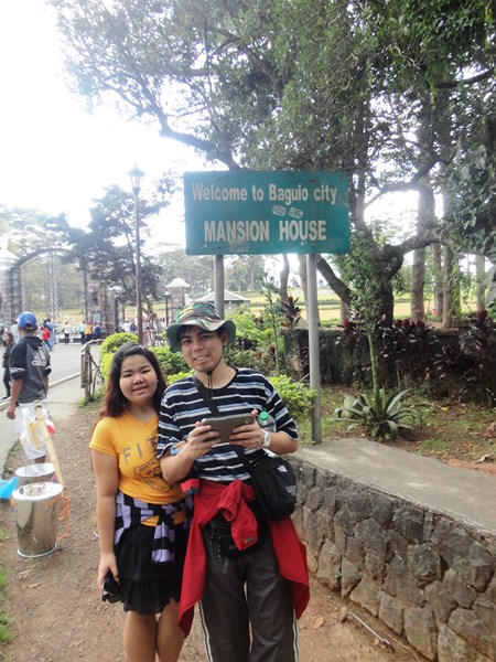 Almira and Jandy along C.P. Romulo Drive