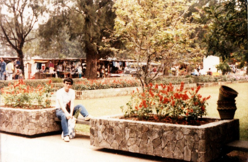 Author at Burnham Park, April 3, 1986