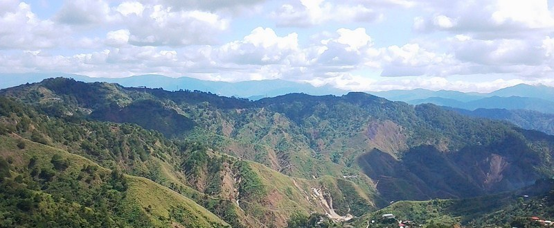 The panoramic view of the Central Cordillera mountains