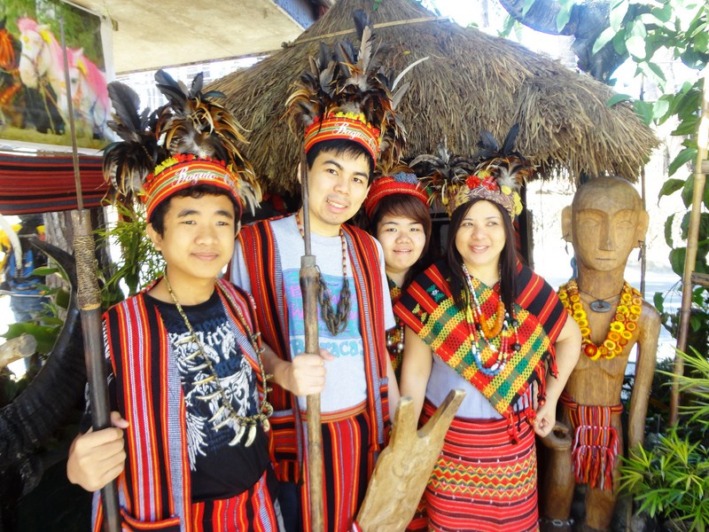 Dressing up in Igorot attire