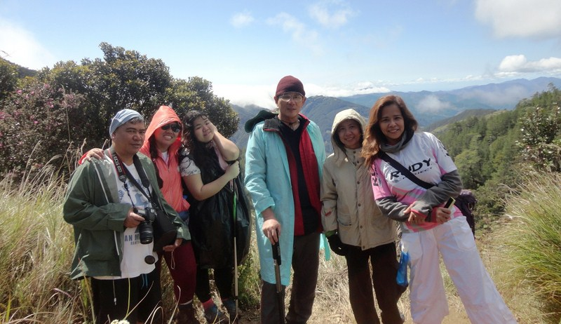 L-R: Maki, Violet, Almira, the author, Celeste and Lorelie