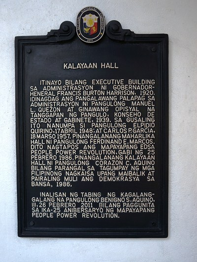 Plaque installed by National Historical Commission