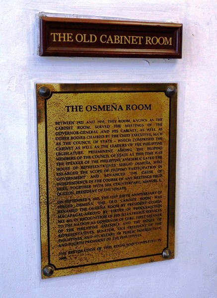 Osmena Room Plaque