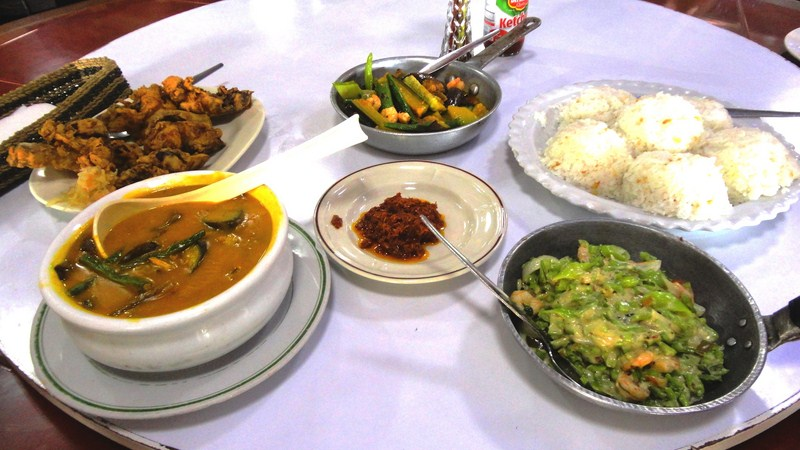 Typical fare at Solibao Restaurant