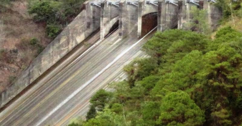 The dam's spillway
