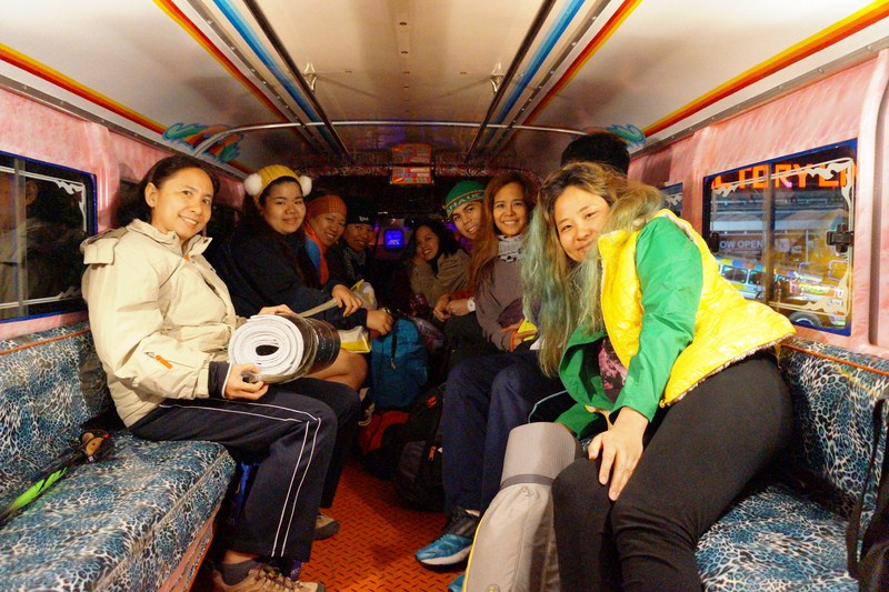 The ladies at our chartered passenger jeepney