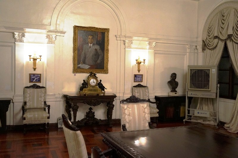 Wall with portrait of Pres. Quirino painted by the late National Artist Fernando C. Amorsolo