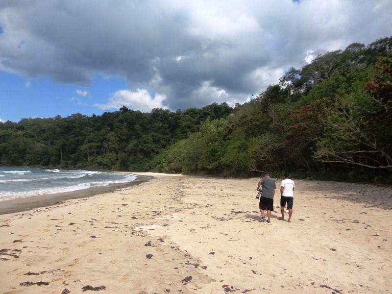 The short, leisurely hike along a beautiful, deserted white sand beach