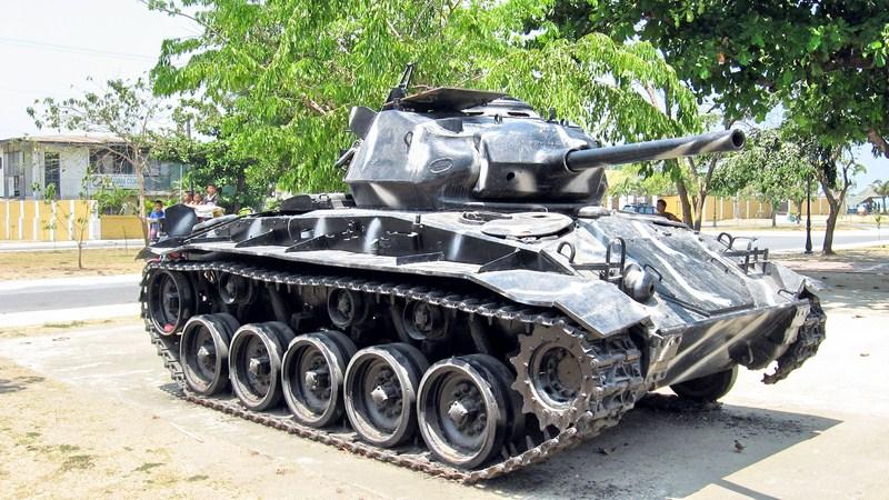 A repainted U.S. M10 tank
