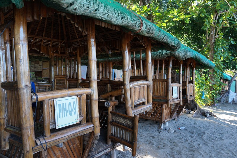 Bamboo and nipa picnic huts
