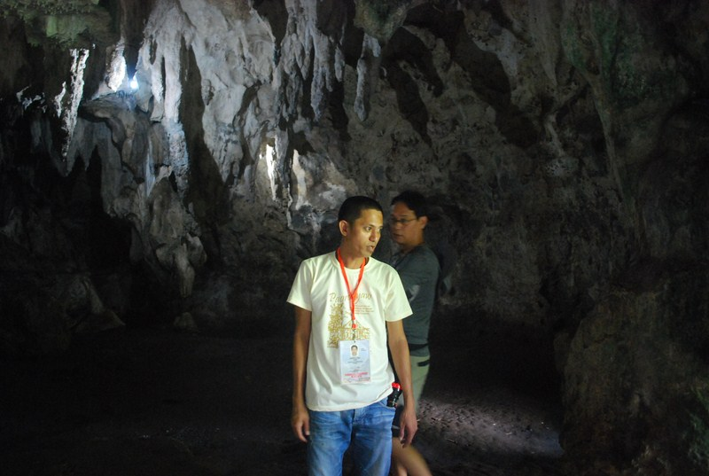 Mr. Garner N. Abril, our local cave guide