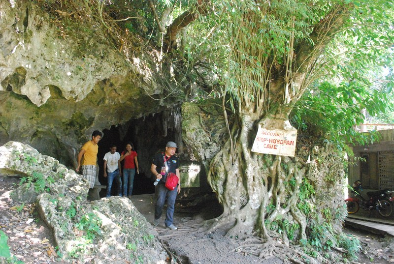 One of the cave entrances