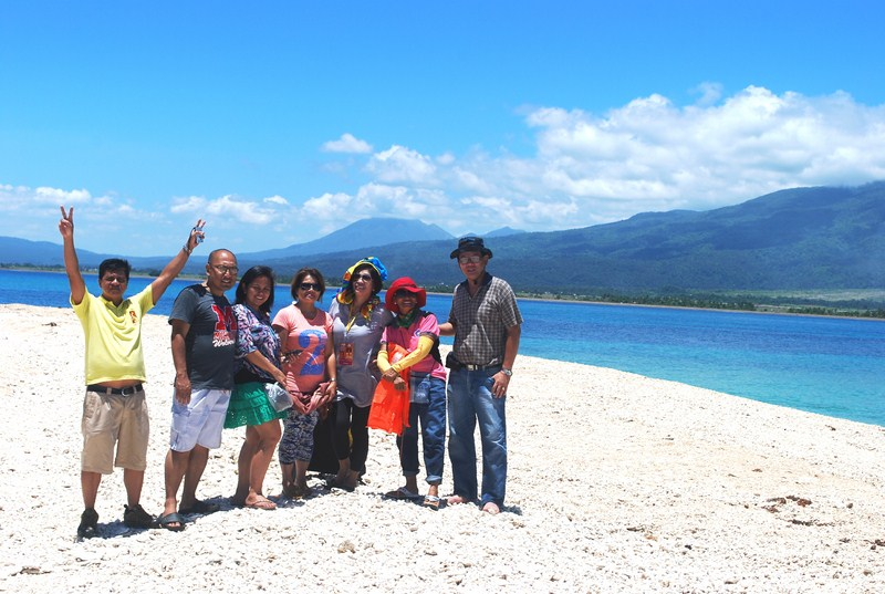Our media group with Mt. Masaraga and Mt. Malinao in the background