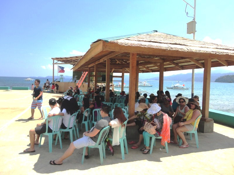 Visitors waiting for their ride at Sabang Port