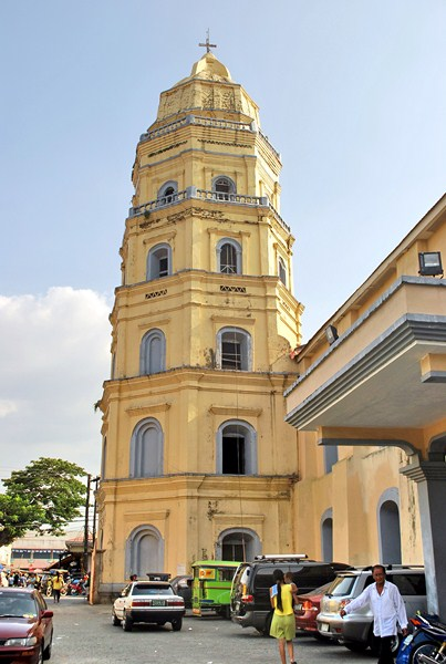 The 5-storey, octagonal bell tower