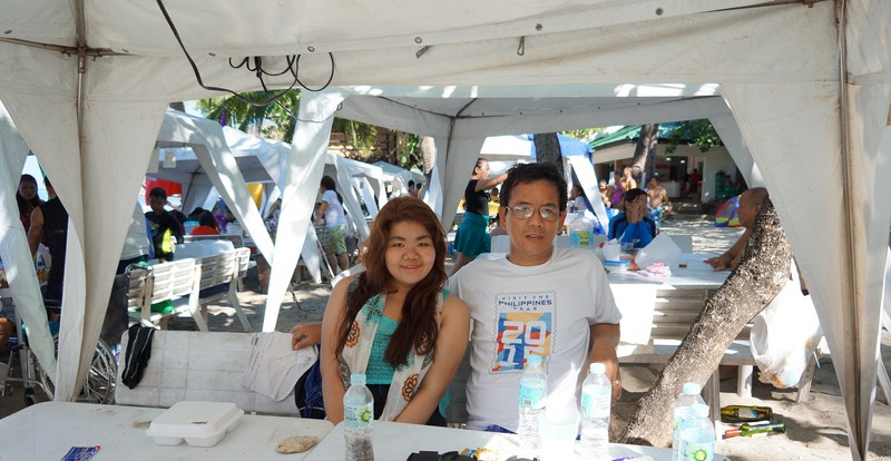 The author with Almira