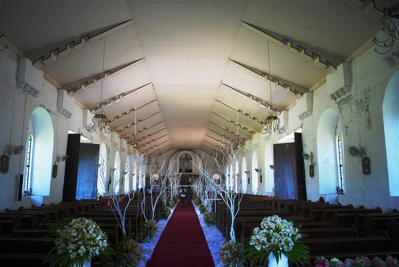 The modern church interior