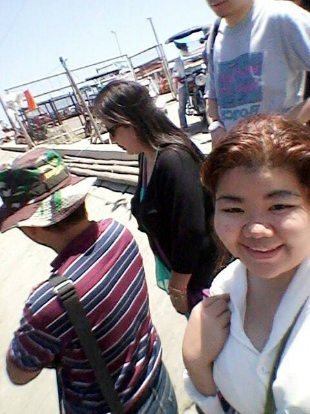 Waiting for our banca at Wawa Port