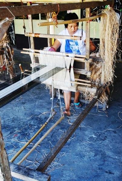 A handloom for weaving abaca