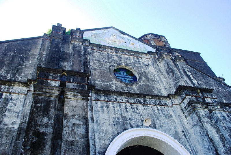 The church facade