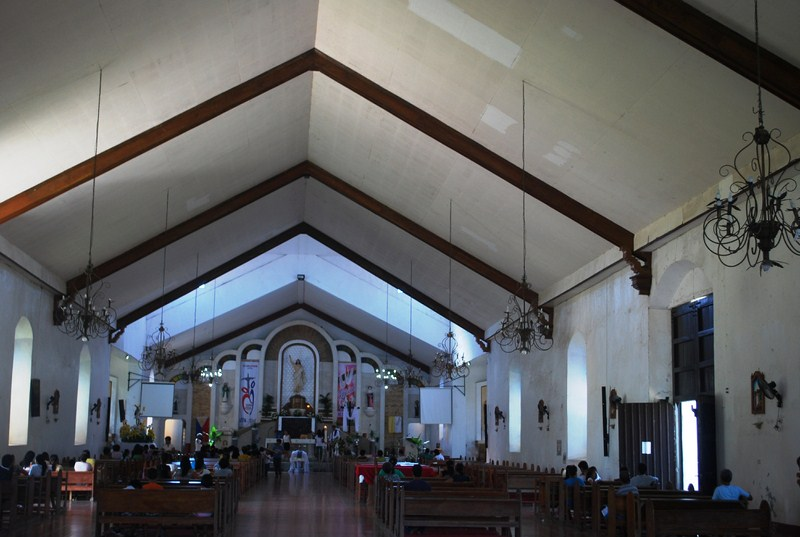 The church's modern interior