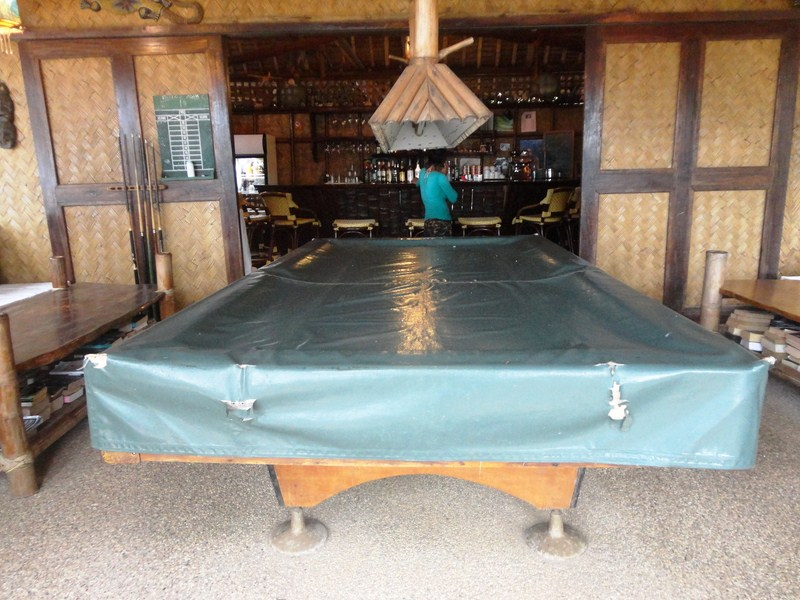 Billiard table at Sangat Island Bar