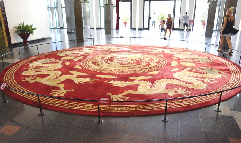 Lobby with a Hong Kong-made (1973) circular carpet