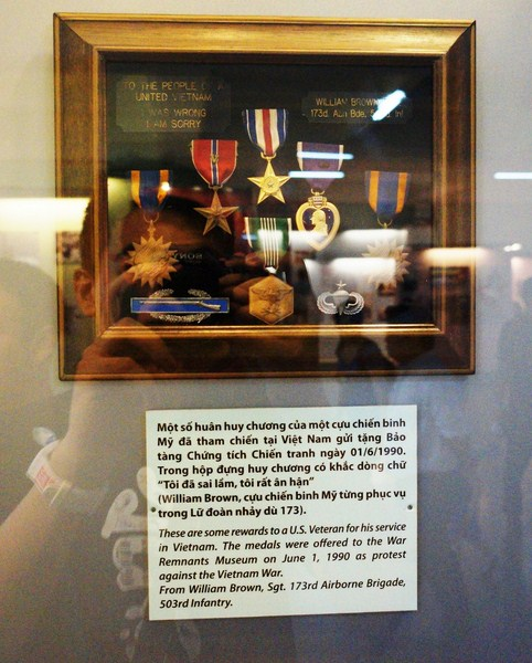 Medals given by U.S. Sgt. William Brown to the Vietnamese people