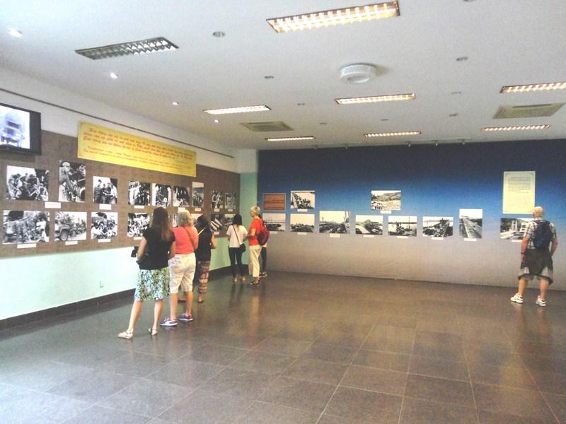 Museum lobby exhibit