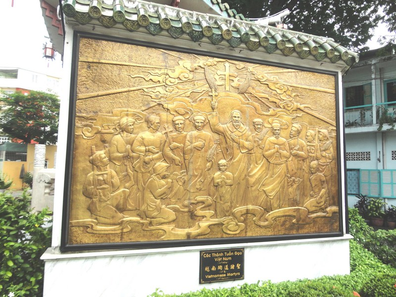 Plaque commemorating Vietnamese martyrs