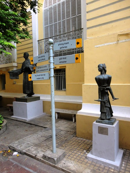 Statuary at the courtyard