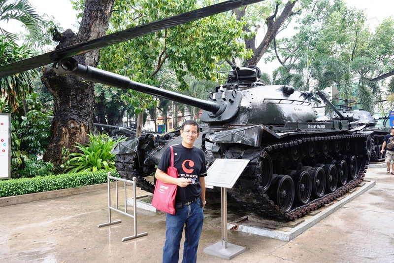 The author beside an M-48 A3 Tank