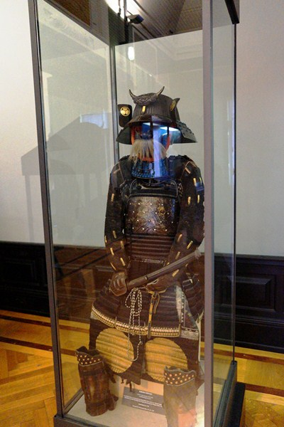 A Japanese samurai's suit of armor