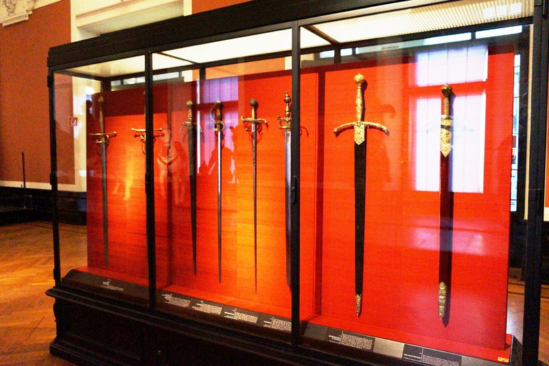 A display of swords