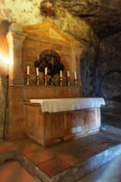 Altar within the catacombs