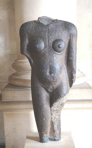 Fragment of a Statue of a Nubian
