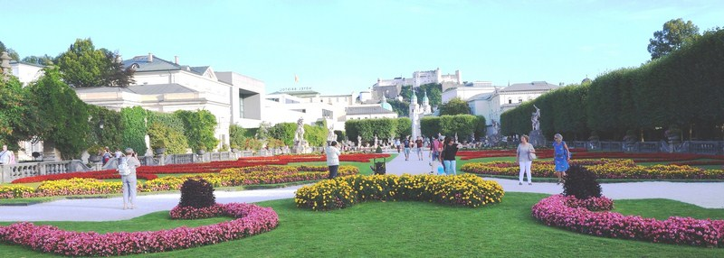 The Grand Parterre of Mirabell Gardens