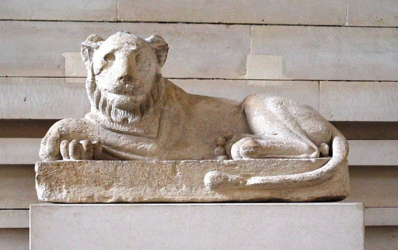 Guardian Lion at the Entrance to a Chapel of the Serapeum of Saqqara