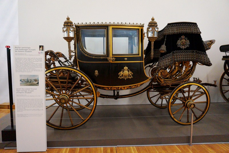 Lavish personal 2-seater town carriage of Empress Elisabeth
