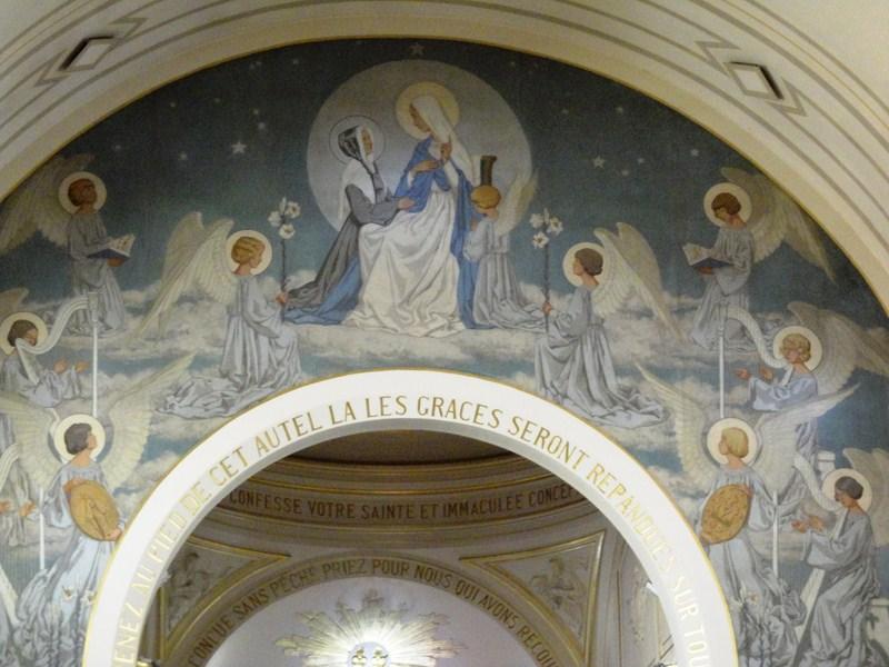 Murals around the altar