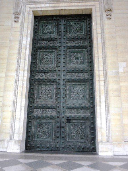 One of 3 bronze doors