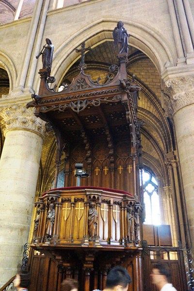 Ornate wooden pulpit