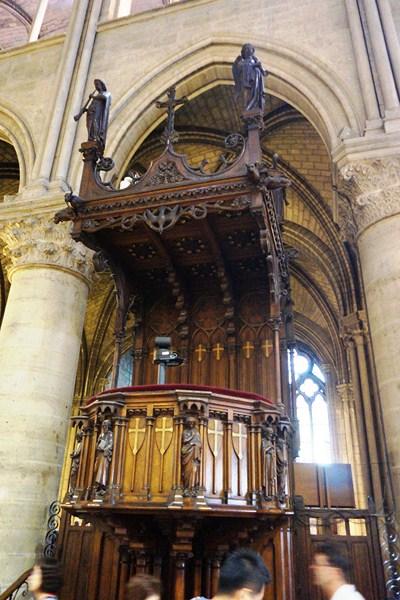 Ornate wooden pulpit