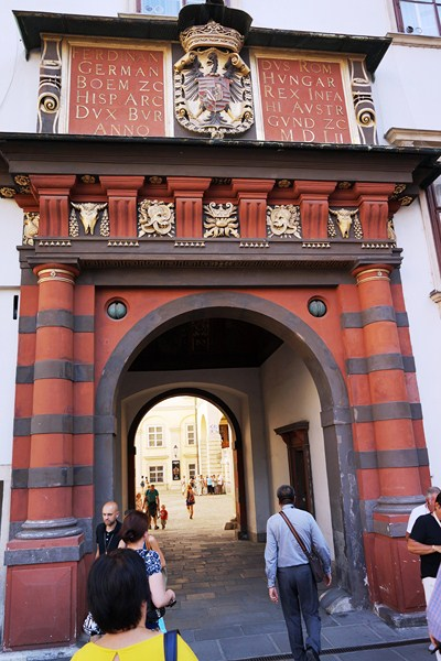 Entrance to the 13th century Schweizerhof (Swiss Courtyard)