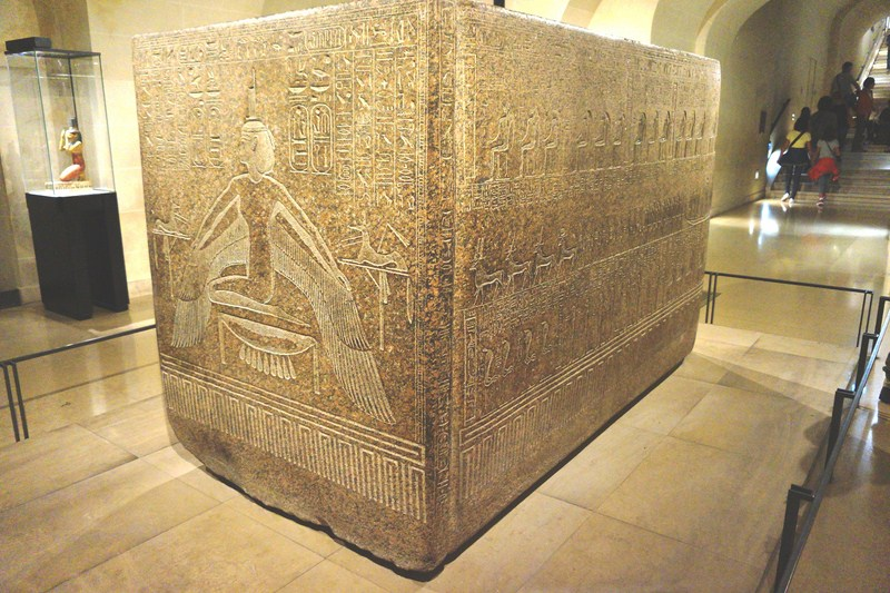 The red granite tomb of pharaoh Ramses III at Room 13