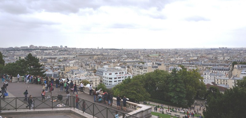 View of Paris from the parvis
