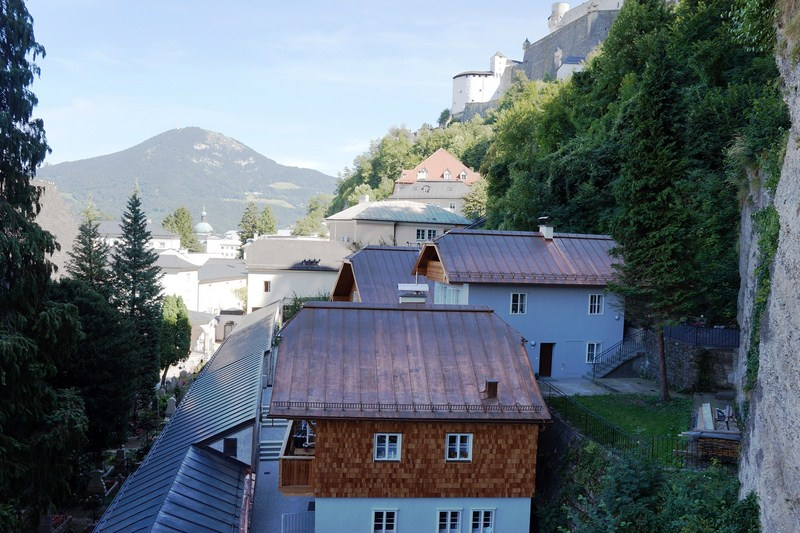 View of Salzburg from the catacombs